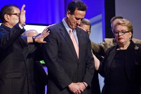 Rick Santorum, God's candidate for president.