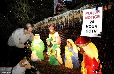 One of many members of Obama's government is removing a Nativity Scene from a church.