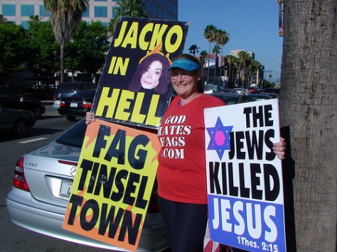 The Westboro Baptist Church is right about Jackson burning in Hell!