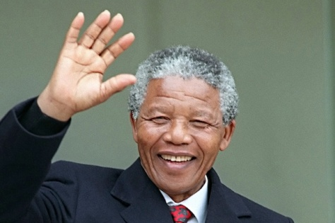 Mandela is paying tribute to Hitler by mimicking the Nazi Salute!