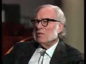 Isaac Asimov wearing Darwin's Satan chops