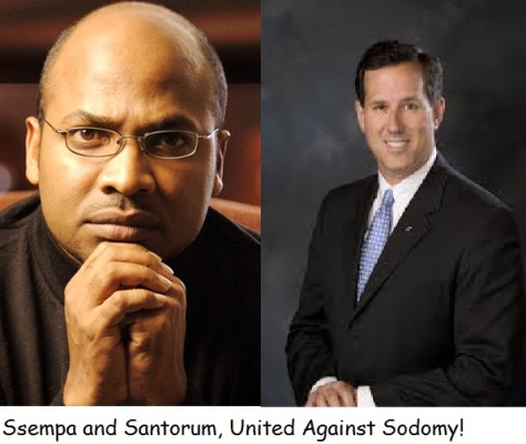 Santorum and Sempa will stand against sodomy the right way, through the passing of laws against homosexuality.