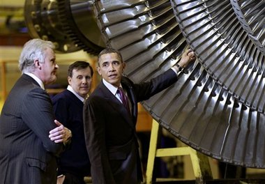 Barack HUSSEIN Obama at General Electric in Schenectady!